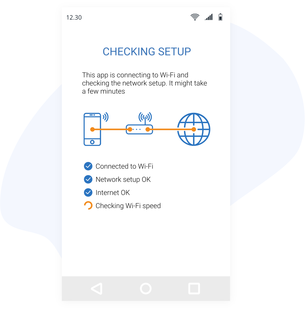 View of support app connecting to ISP agents