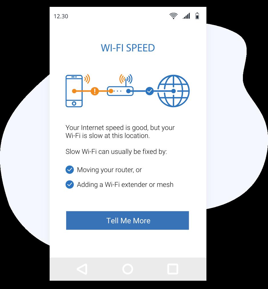 ISP broadband support app in action
